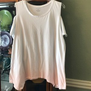 Lane Bryant cold-shoulder tee